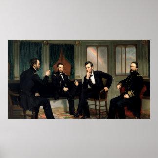 Poster A pintura dos pacificadores de 1868