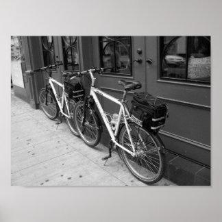 Pôster A polícia Bicycles a fotografia de Toronto Canadá