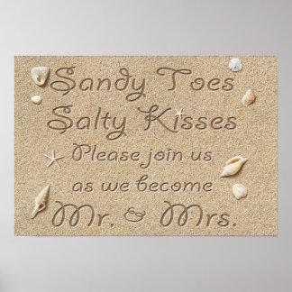A praia Sandy Toes beijos salgados Sr. & Sra.