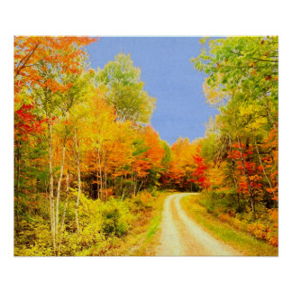 Poster A queda colore Maine