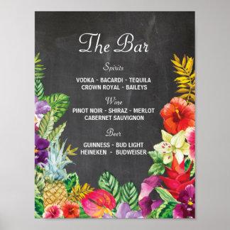 Poster A recepção de casamento do sinal do partido de