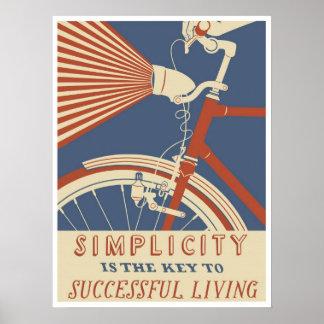 Poster A simplicidade é a chave à vida bem sucedida,