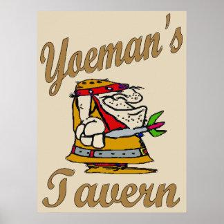 Poster A taberna do Yeoman, jogador de dardo
