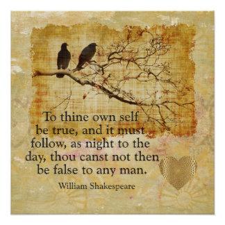 Pôster A Thy próprio auto seja verdadeiro -- Poster da