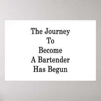 Pôster A viagem para assentar bem em um barman começou