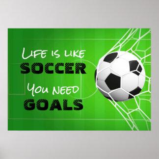 Poster A vida é como o futebol