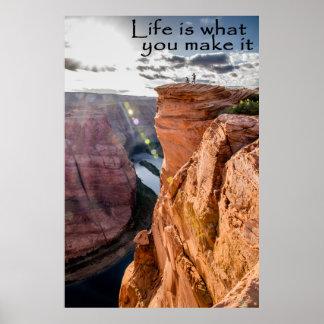Pôster A vida é o que você faz lhe à curvatura em