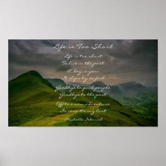 Pôster A vida é poema demasiado curto da montanha de