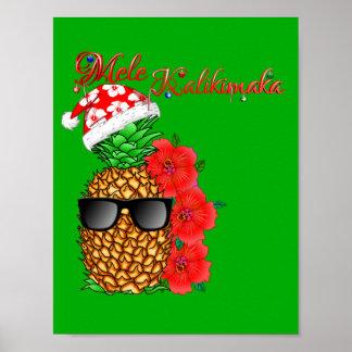 Pôster Abacaxi do Natal de Mele Kalikimaka