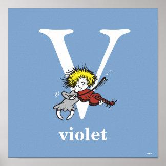 Pôster ABC do Dr. Seuss: Letra V - O branco | adiciona