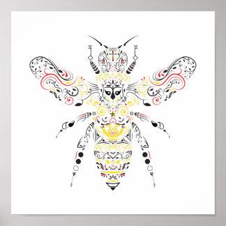 Pôster abelha de rainha