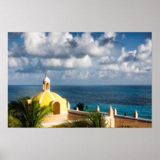 Poster - abóbada amarela de Cancun após o nascer