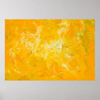 Poster abstrato amarelo das belas artes