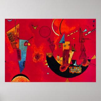 Poster abstrato da pintura de Gegen do und do Mit Pôster