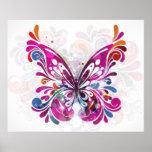 Poster abstrato decorativo da borboleta