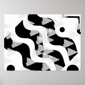 Poster abstrato do branco do preto das setas da
