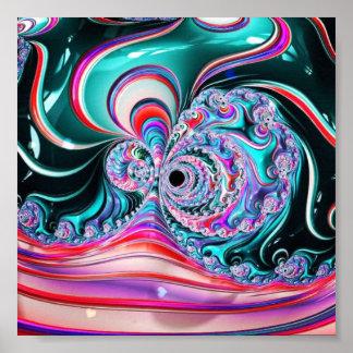 Poster Abstrato do líquido