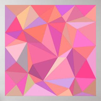 Poster Abstrato do triângulo