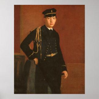 Poster Achille De Gás no uniforme de uma pintura do