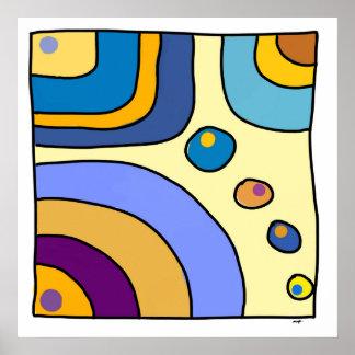 """Pôster Afixar quadrado médio exemplar """"Bubble Gum Art """""""