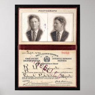 POSTER AGENTE SHUMATE 1920 DA PROIBIÇÃO