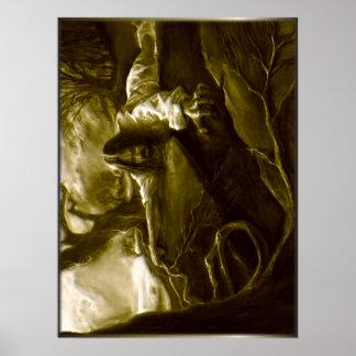 Pôster Agonia do Jesus Cristo no jardim de Gethsemane