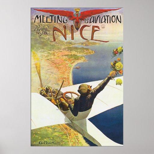 Poster agradável clássico da aviação de France