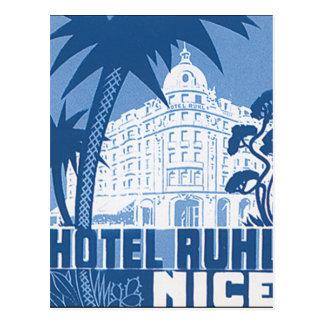 Poster agradável das viagens vintage de Ruhl do Cartão Postal