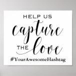 Poster Ajude-nos a capturar o amor - sinal Wedding de