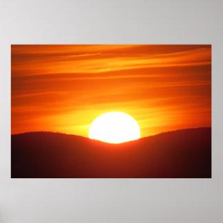 Poster alaranjado do por do sol