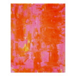 Poster alaranjado e cor-de-rosa da arte abstracta