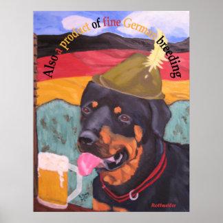 Poster alemão do cão da herança