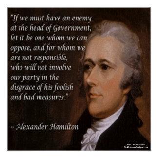 """Pôster Alexander Hamilton & """"poster das citações do líder"""