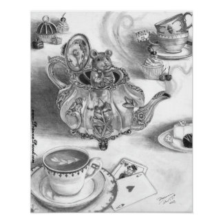 Poster Alice do Dormouse no poster do país das