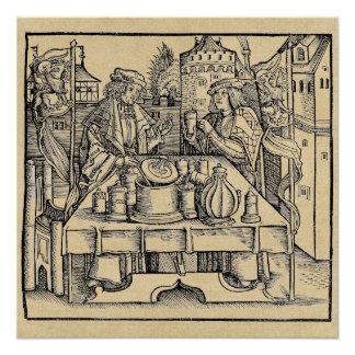 Pôster Alquimista real no castelo