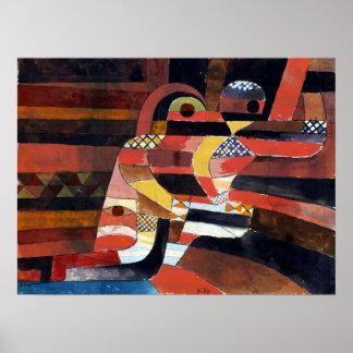 Poster Amantes de Paul Klee