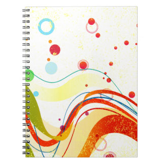 Poster amarelo do jazz caderno espiral