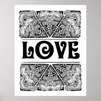 Pôster Amor - citações positivas da indicação