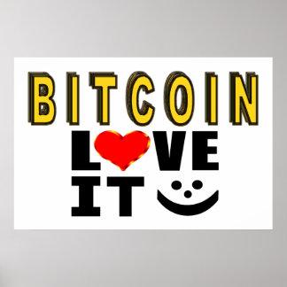 Pôster Amor de Bitcoin ele