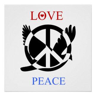 Pôster Amor e paz 2