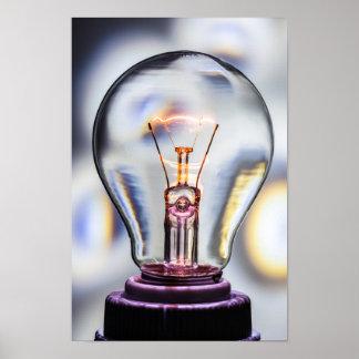 Pôster Ampola das ideias brilhantes