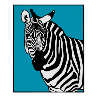 Poster Animais selvagens legal do animal da zebra