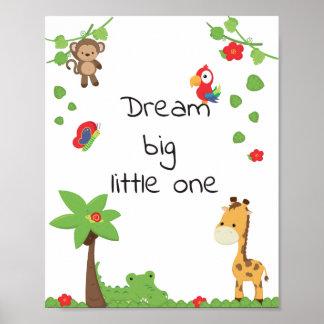Poster animal bonito do berçário, inspiração