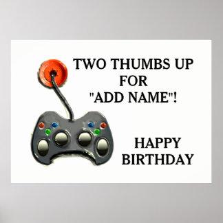 Pôster Aniversário video do Gamer