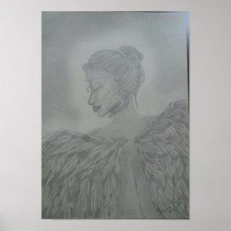 Pôster anjo intitulado