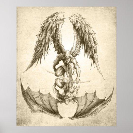 Poster Anjos E Demónios - Reflexão