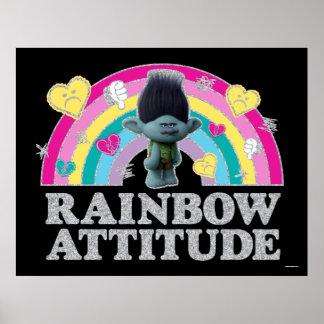 Poster Anti-Arco-íris do ramo dos troll |
