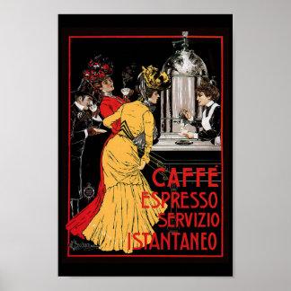 Poster antigo do italiano do café de Expresso do c Pôster