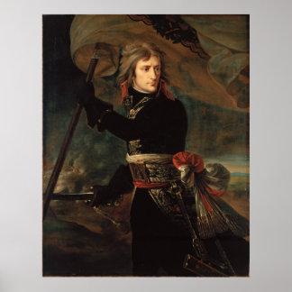 Pôster Antoine-Jean Gros Bonaparte no d'Arcole do pont