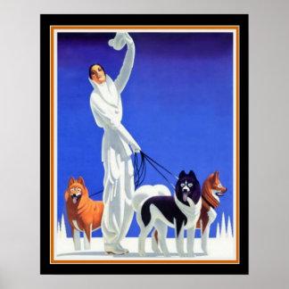 Pôster Anúncio do art deco do Pullman (os anos 30) 16x20